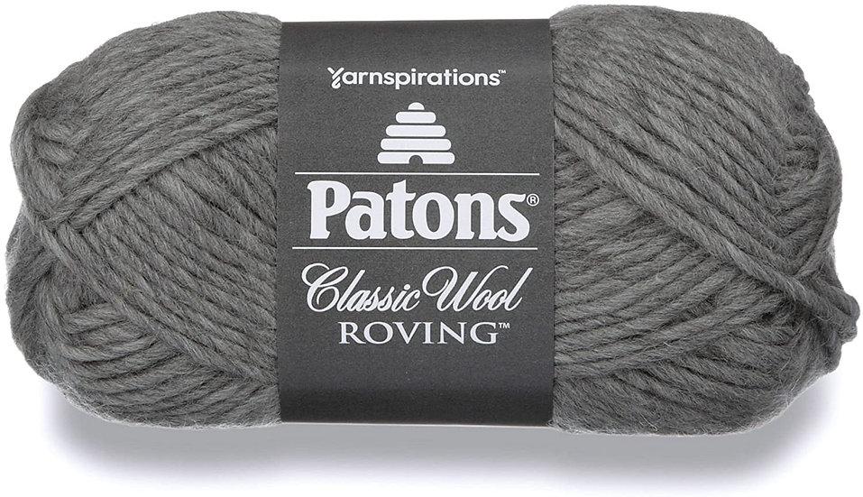 PATONS Classic Wool Roving - Gris - Laine vierge à feutrer - 6mm