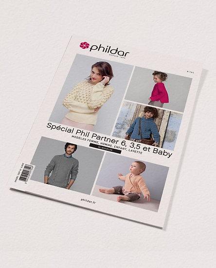 Revue Phildar n°185 -Spécial PHIL PARTNER (6/3,5/Baby)