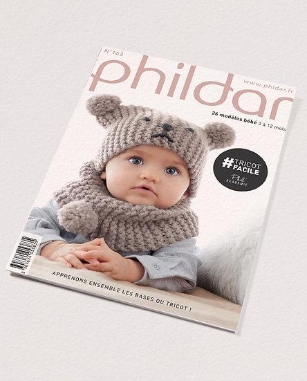 Revue Phildar n°162 : Tricot facile, 26 modèles bébé 3 à 12 mois