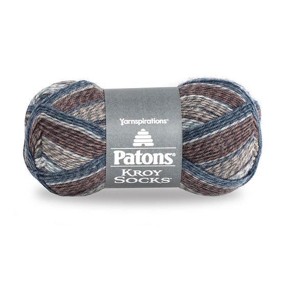 PATONS Kroy Socks - Blue Brown Marl