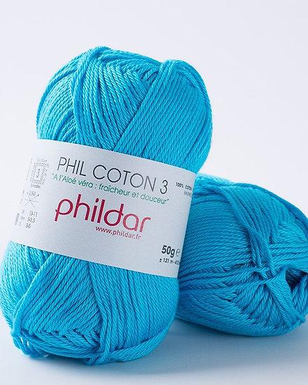 Phil Coton 3 - Turquoise