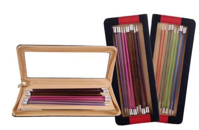 Kit d'aiguilles à tricoter longues en métal léger