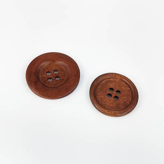 """Boutons en bois 1 3/8"""" - Colori Auburn - 2 modèles"""