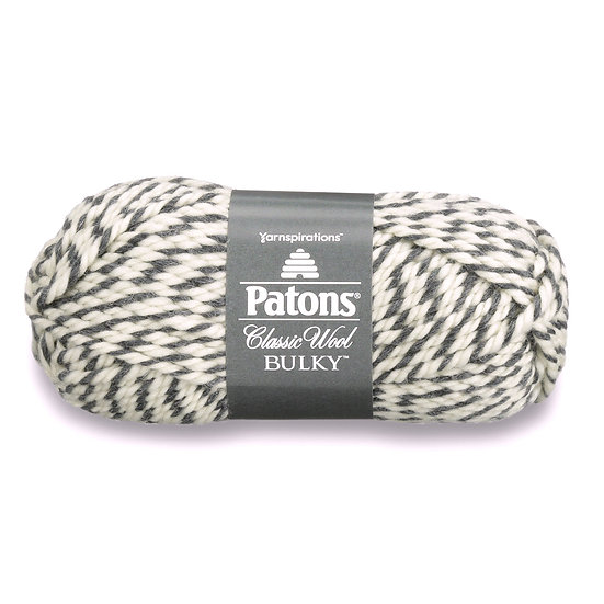PATONS Classic Wool Bulky - Gris ragg - 100% Laine vierge - 8 mm