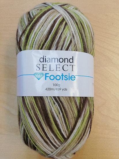 Laine à bas Diamond Select - Footsie - 100g - col. 515