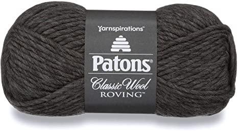PATONS Classic Wool Roving - Gris foncé - Laine vierge à feutrer - 6mm
