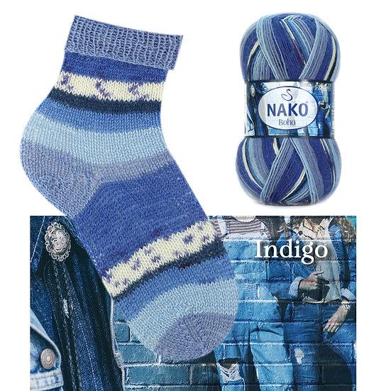 Laine à bas NAKO - Indigo