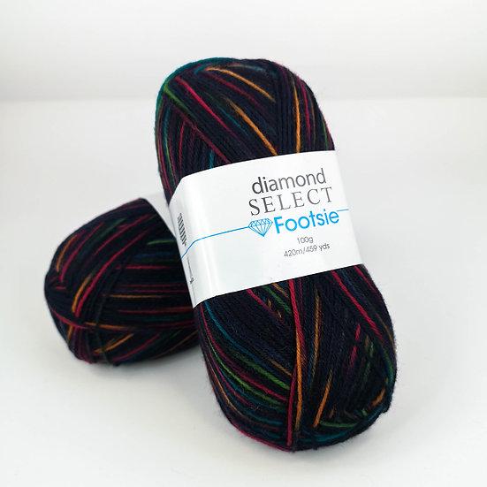 Laine à bas Diamond Select - Footsie - 100g - col. 514