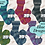 Thumbnail: Laine à bas Opal - Black Dragon - 100g