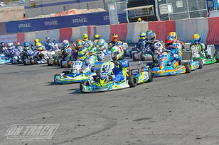 Braden leading the field at the biggest karting race in the world