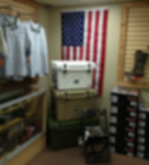 American Flag Orca Coolers USA Rocky Boots Binoculars Optics Knives WileyX Drake Shirts Dove Stools K & K Outdoors