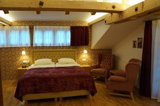 Bedroom in the Hotel Walliserhof