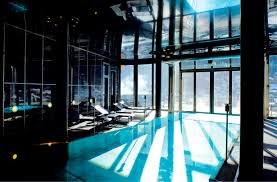 Indoor/Outdoor pool at the Omnia Hotel