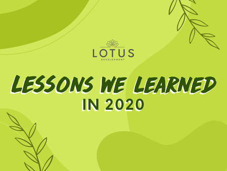 Lotus Development: Lessons we learned in 2020