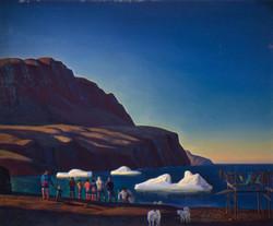 Гренландцы. Близ Годховна. 1932