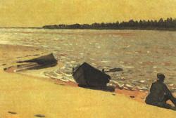 Песчаный остров на Северной Двине
