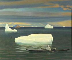 Рокуэлл Кент. Эскимос в каяке. Гренландия. 1933