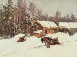 Зимний пейзаж. 1930