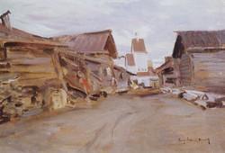 Село не Севере России. 1890-е
