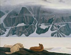 Рокуэлл Кент. Собаки во фиорде Кангердлуарссук. 1933
