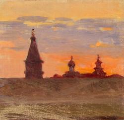 Северная Двина. Этюд. Конец XIX века