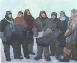 Первые Герои Советского Союза. Масло. 1976.