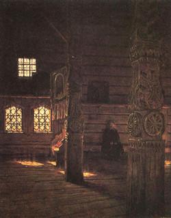 Интерьер Петропавловской церкви в Пучуге