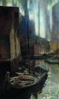 Гаммерфест.Северное сияние. 1895