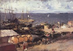 Архангельский порт на Двине. 1894