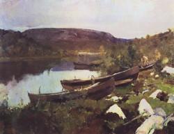 Ручей святого Трифона в Печенге. 1894