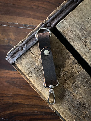 Small Leather Keychain