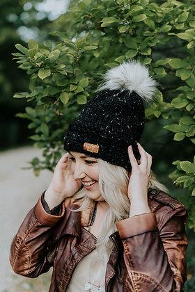 Knit Fur Pom Pom Hat