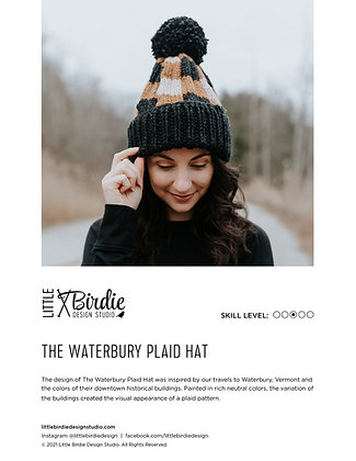 KNIT PATTERN: The Waterbury Plaid Hat