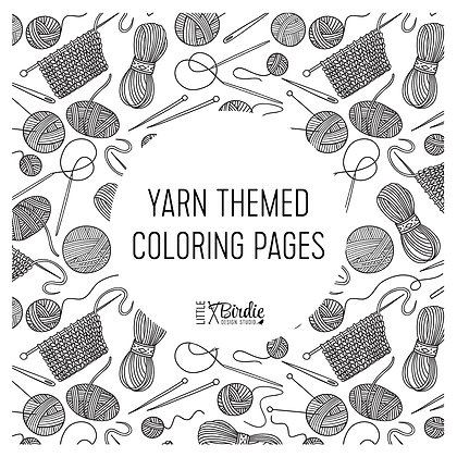 Yarn Themed Coloring Pages