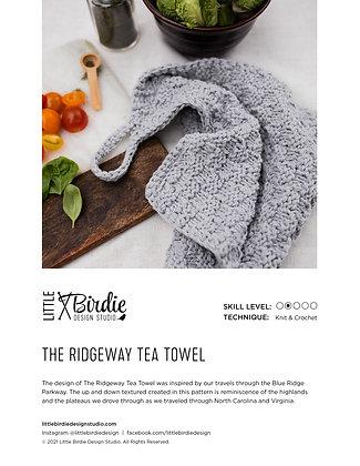 KNIT PATTERN:The Ridgeway Tea Towel