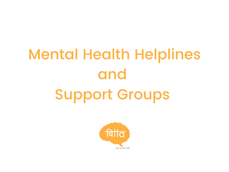 Mental Health Helplines and Support Groups