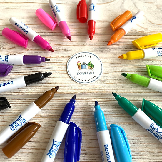 Set of 12 Dry-Erase Markers