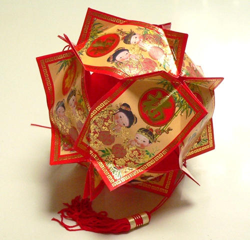 Reuse those Ang Pows/Red Packets and make this great lantern