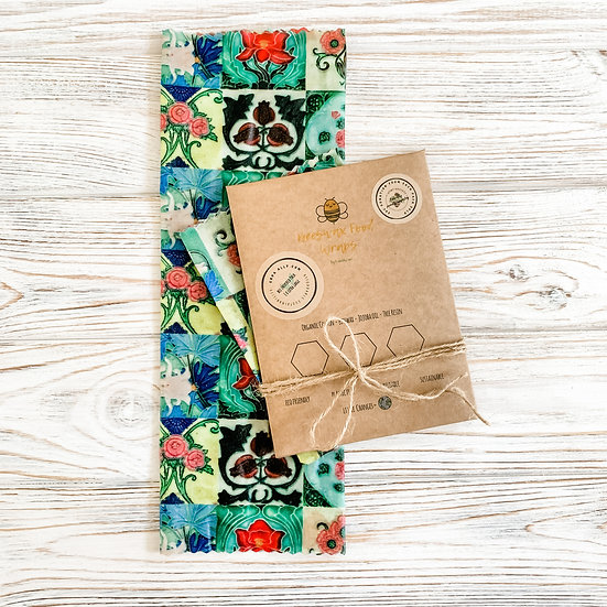 Special Edition Peranakan Tiles Beeswax Wraps 30 x30cm (1 per pack)