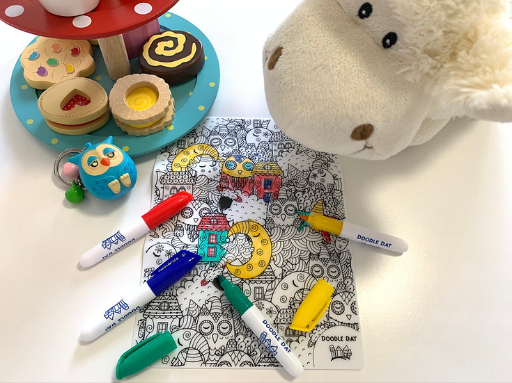 Party Pack Reusable Colouring Mat - Good Night