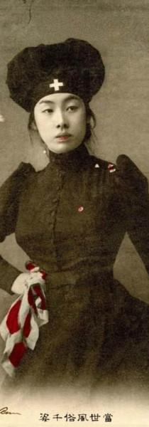 infirmière pendant la guerre russo-jap.j