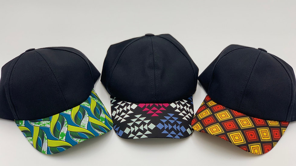 AFRICAN PRINT FACE CAPS
