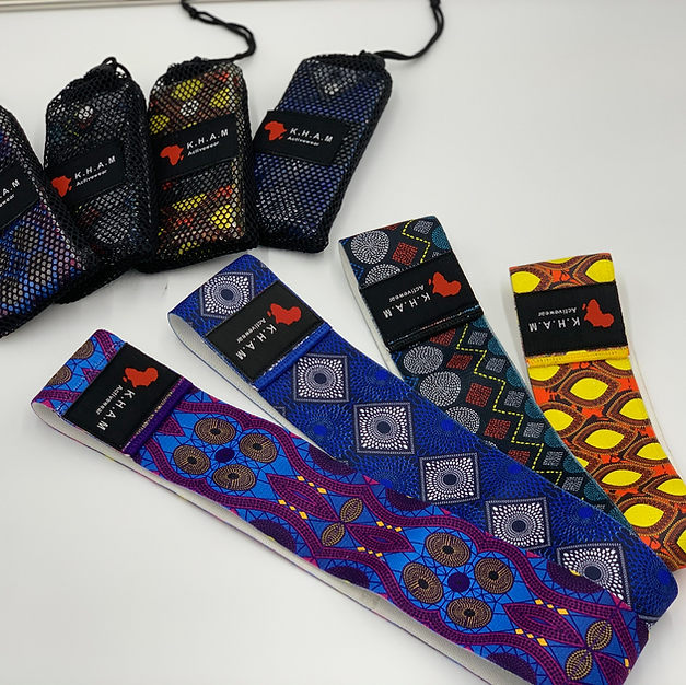 Ahrican Print Fabric Resistance Bands