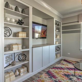 Carlisle Alpine White Family Room Built-