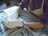 Mary Frank mold in progress