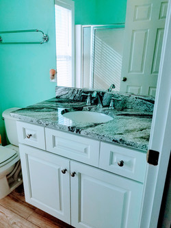 Upper level bath w/ shower stall. Excellent views even in here!