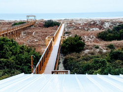 View of private walkway from upper deck