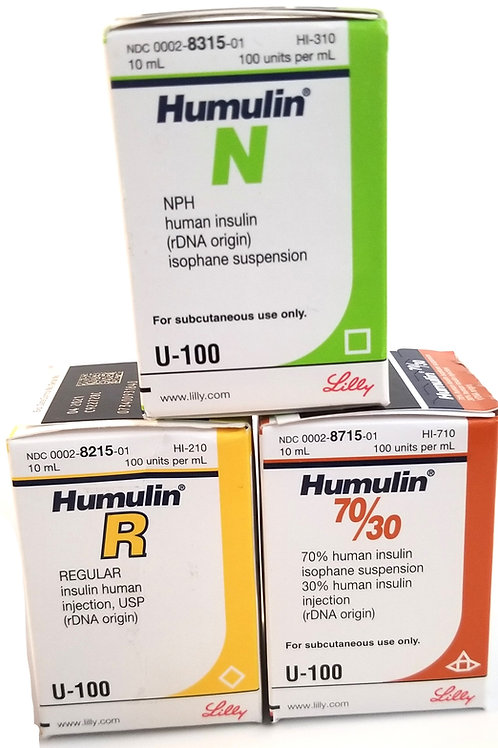 Insulin Humulin R - N - 50/70 CALL US 424 443 1402