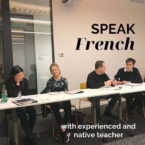 Conversational group French course with native teacher