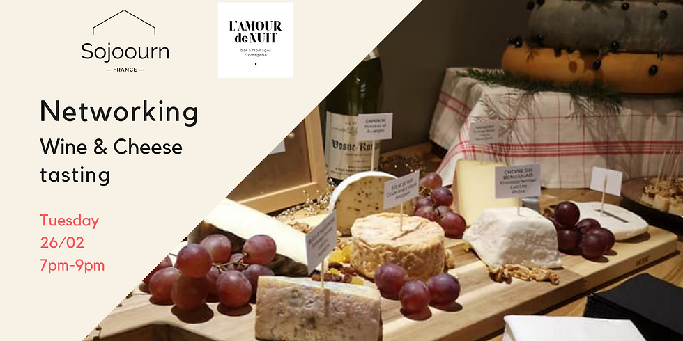 Networking while wine & cheese tasting